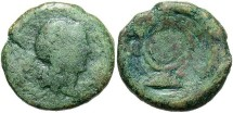 Ancient Coins - Sicily, Syracuse. Roman administration. After 212 B.C. Æ 20 mm. Fair, apple-green patina.