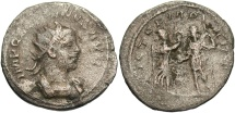 Ancient Coins - Gallienus. A.D. 253-268. BI antoninianus. Near VF, light porosity.