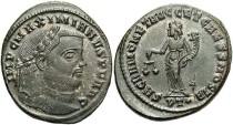 Ancient Coins - Maximianus. First reign, A.D. 286-305. Æ follis. Ticinum, ca. A.D. 300-303. Near EF, minor porosity, some toned silvering.