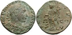 Ancient Coins - Philip I. A.D. 244-249. Æ sestertius. Rome, A.D. 247. VF, sandy brown patina, minor porosity.