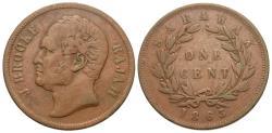 World Coins - Sarawak. J. Brooke. 1863. 1 cent. About VF.