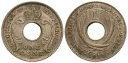 World Coins - East Africa & Uganda Protectorate. George V. 1916-H. 1 cent. AU.