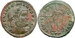 Ancient Coins - Maximianus. A.D. 286-305/08/10. Æ follis. Heraclea, ca. A.D. 297-298. Good VF, encrustation.