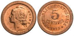 World Coins - Guinea-Bissau. 1933. 5 centavos. Gem BU.