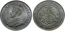 World Coins - South Africa. George V. 1932. 1/4 penny. Unc., darkly toned.