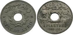 World Coins - Syria. 1940-(a). 1 piastre. Unc, zinc issue.