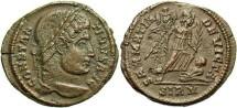 Ancient Coins - Constantine I. A.D. 307/10-337. Æ follis. Sirmium, A.D. 324/5. VF, brown patina, porosity and short flan crack.