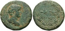 Ancient Coins - Phoenicia, Berytus. Hadrian. A.D. 117-138. Æ 25 mm. Fine, attractive green patina with sandy highlights.