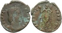 Ancient Coins - Galeria Valeria. Augusta, A.D. 293(?)-311. Æ follis. Heraclea, ca. A.D. 310. Good Fine, brown patina.