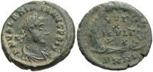 Ancient Coins - Valentinian II. A.D. 375-392. Æ. Nicomedia. Near VF, green patina.
