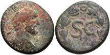 Ancient Coins - Syria, Seleucis and Pieria. Antiochia ad Orontem. Antoninus Pius. A.D. 138-161. Æ as. Fine, sandy brown patina.