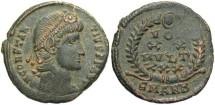 Ancient Coins - Constantius II. A.D. 337-361. Æ. Antioch. VF, desert green patina.