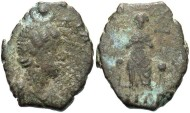 Ancient Coins - Aelia Eudoxia. Augusta, A.D. 400-404. Æ. Antioch. Fine, brown-green patina.