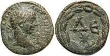 Ancient Coins - Syria, Seleucis and Pieria. Antiochia ad Orontem. Elagabalus. A.D. 218-222. Æ semis. Near VF, green patina, minor porosity, light scratches in obverse field.