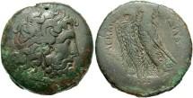 Ancient Coins - Ptolemaic Kingdom. Ptolemy II Philadelphos. 285-246 B.C. Æ. Alexandria. VF, dark olive green patina, edge roughness.