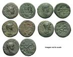 Ancient Coins - [Roman Provincial]. Lot of five Æ.