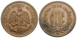 World Coins - Mexico, United States of Mexico. 1920. 10 centavos. Choice AU.