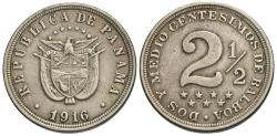 World Coins - Panama. 1916. 2 1/2 centesimos. VF.