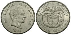 World Coins - Colombia. 1934-(S). 50 centavos. Unc.