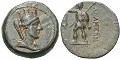Ancient Coins - Seleukid Kingdom. Alexander I Balas. 152/1-145 B.C. Æ. Quasi-autonomous issue. Apameia on the Axios, S.E. 163 (150/49 B.C.). Good VF. Fine style. Scarce.