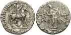 Ancient Coins - Indo-Scythian Kingdom. Azes. Ca. 58-12 B.C. AR drachm. Good VF, tight flan.