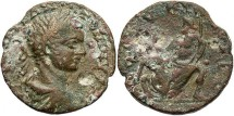Ancient Coins - Phoenicia, Berytus. Elagabalus. A.D. 218-222. Æ 24 mm. VF, brown patina, a couple of pits.