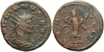 Ancient Coins - Gallienus. A.D. 253-268. Æ antoninianus. Antioch. VF, rough.