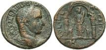 Ancient Coins - Coele-Syria, Heliopolis. Philip I. A.D. 244-249. Æ 26 mm. Near VF, brown patina.