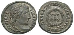 Ancient Coins - Constantine I. A.D. 307/10-337. ' follis. Cyzicus, A.D. 326. EF, brown patina with a hint of silvering.