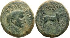 Ancient Coins - Phoenicia, Berytus. Claudius. A.D. 41-54. Æ. Near VF, green patina with earthen deposits.