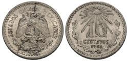 World Coins - Mexico, United States of Mexico. 1933. 10 centavos. AU, obverse die break.