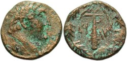 Ancient Coins - Phoenicia, Tyre. Pseudo-autonomous issue. 1st century B.C. Æ 20 mm. Civic era 90 (37/6 B.C.). VF, cleaned.