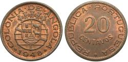 World Coins - Angola. 1948. 20 centavos. 300th anniversary of the revolution of 1648. Unc.