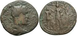 Ancient Coins - Phoenicia, Tyre. Philip I. A.D. 244-249. Æ. Fine, brown patina, rough. Rare.