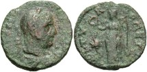 Ancient Coins - Phoenicia, Tyre. Valerian I or Gallienus. A.D. 253-260-268. Æ. Fine, green patina, a bit rough.