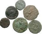 Ancient Coins - [Roman Provincial]. Lot of six Æ.