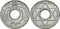 World Coins - British West Africa. Edward VII. 1907. 1/10 penny. Gem BU.
