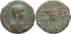 Ancient Coins - Phoenicia, Tyre. Elagabalus. A.D. 218-222. Æ. Fine, rough brown surfaces.