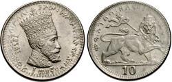 World Coins - Ethiopia. Haile Selassie I. 1923 (1930-31). 10 matonas. BU.