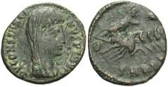 Ancient Coins - Divus Constantine I. Died A.D. 337. Æ follis. VF/Fine, dark green patina.
