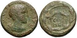 Ancient Coins - Syria, Coele-Syria. Heliopolis. Philip II. As Caesar, A.D. 244-247. Æ. Fine, green patina.