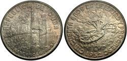 World Coins - Cuba. 1952. 40 centavos. Unc., toned.