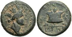 Ancient Coins - Syria, Seleucis and Pieria. Antiochia ad Orontem. Civic coinage. Æ trichalkon. Caesarean Era 108 (A.D. 59/60). VF, desert brown patina.