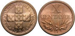 World Coins - Portugal. 1953. 10 centavos. Choice BU.