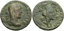 Ancient Coins - Syria, Seleucis and Pieria. Antiochia ad Orontem. Philip II. A.D. 247-249. Æ 8 assaria. Fine, brown and dark green patina with earthen deposits, porosity.