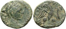Ancient Coins - Syria, Seleucis and Pieria. Emisa. Elagabalus. A.D. 218-222. Æ 16 mm. Near VF, sandy green patina.