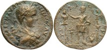 Ancient Coins - Phoenicia, Tyre. Elagabalus. A.D. 218-222. Æ 26 mm. VF, brassy surfaces, typical porosity, light weight flan.