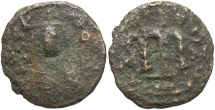 World Coins - Arab-Byzantine. Æ fals. Fair, rough.