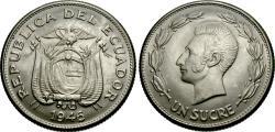 World Coins - Ecuador. 1946. 1 sucre. BU.