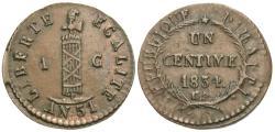World Coins - Haiti. 1834 (An 31). 1 centime. EF, rare.